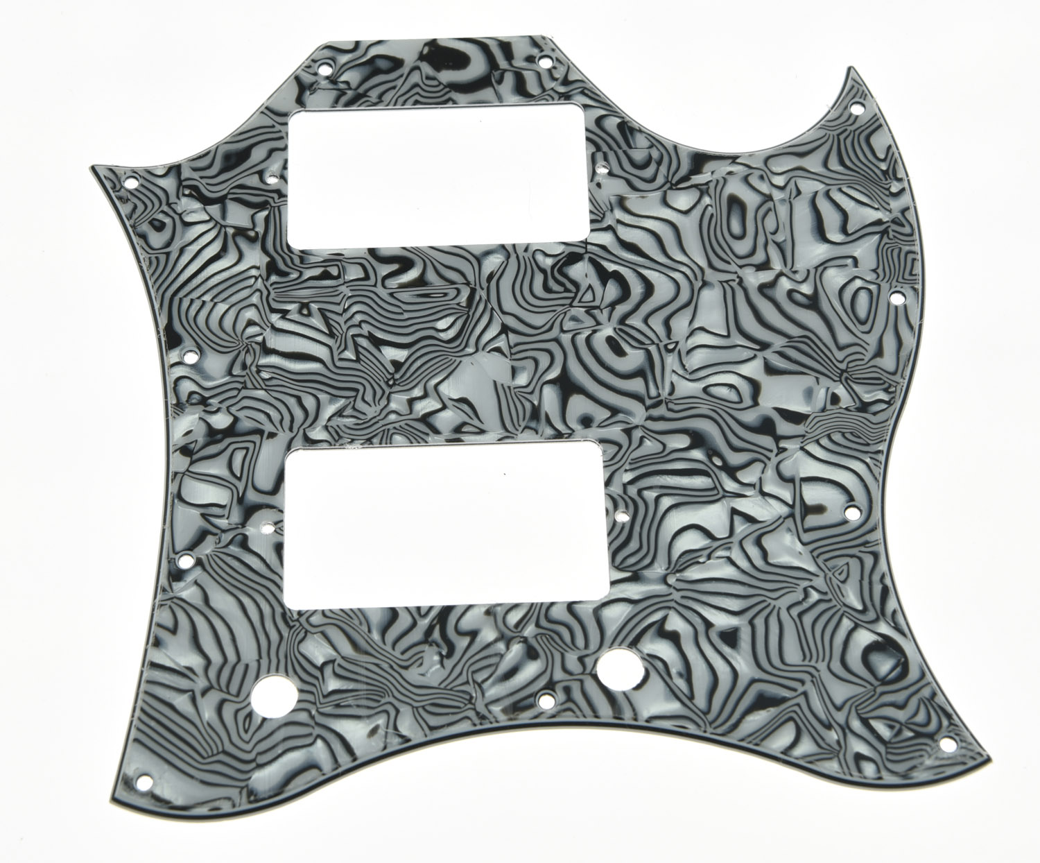SG Standard Full Face Guitar Pickguard Scratch Plate Zebra Stripe with Screws standard sg full face pickguard for sg special guitar various colors