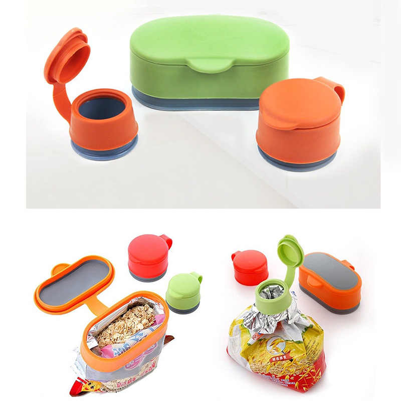 Multi-function Food Storage Snack Seal Bag Magic Kitchen Storage Cap Bag Lid Sealing Device Fresh-keeping moisture-proof Cover