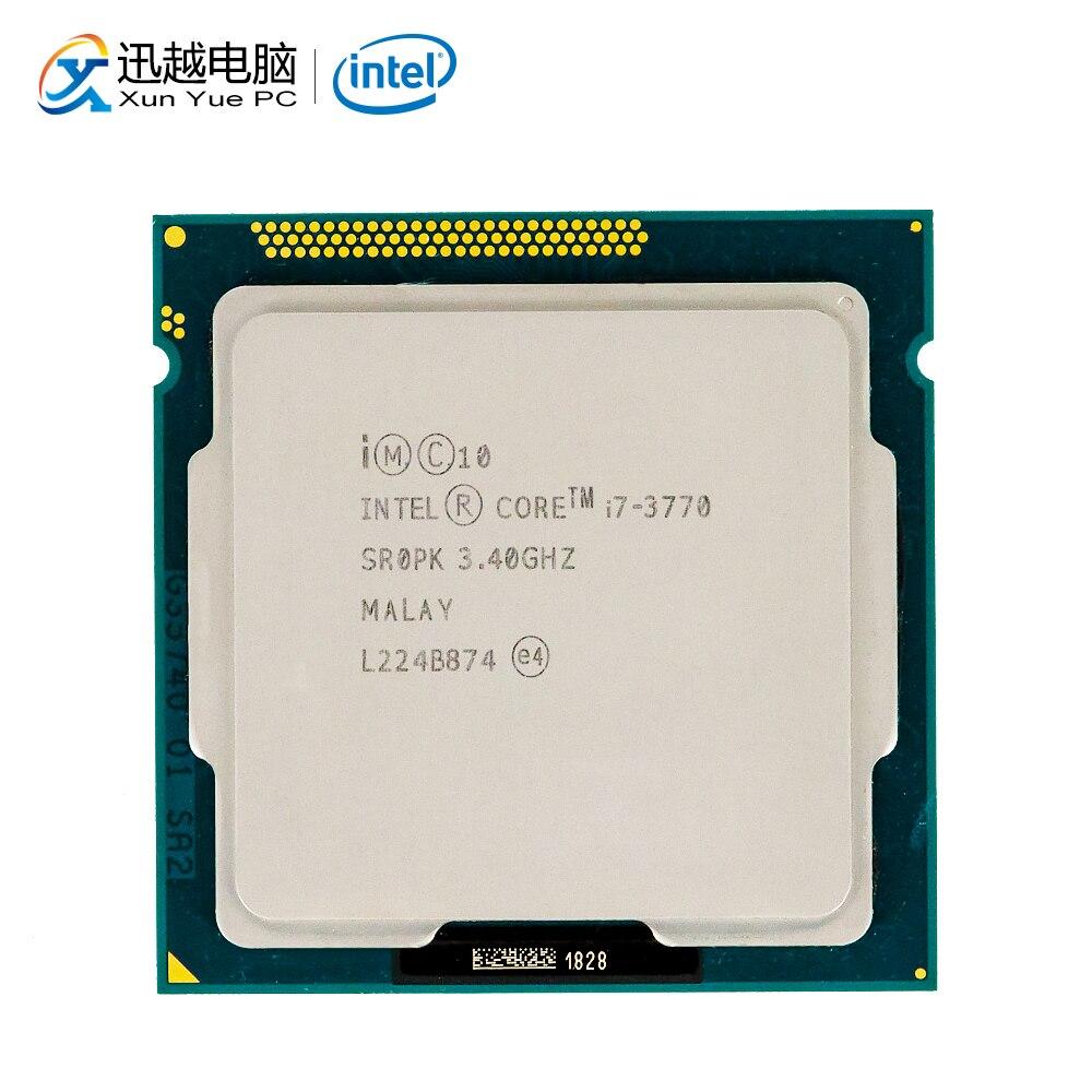 Intel Core i7-3770 Processador para Desktop i7 3770 Quad-Core 3.4 GHz L3 8 MB Cache LGA 1155 Servidor Usado CPU