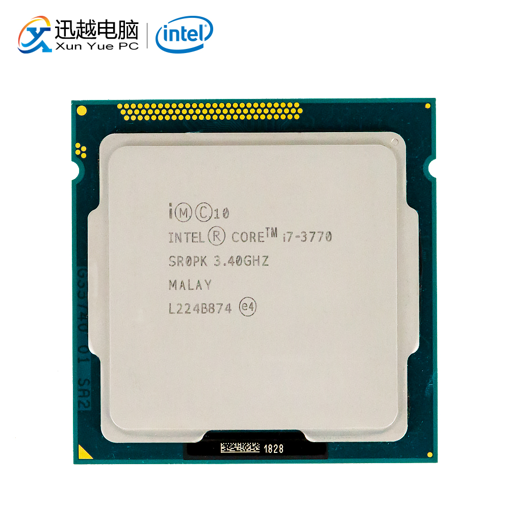 Intel <font><b>Core</b></font> <font><b>i7</b></font>-<font><b>3770</b></font> Desktop Processor <font><b>i7</b></font> <font><b>3770</b></font> Quad-<font><b>Core</b></font> 3.4GHz 8MB L3 Cache LGA 1155 Server Used CPU image
