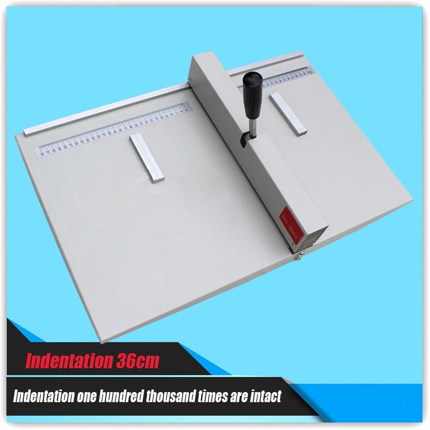 1PC paper Creasing machine , manual creasing machine paper creaser DC-360Y for Creasing Length 360mm/14inch manual paper creaser 350mm a4 size paper creasing machine
