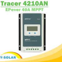 Controlador de carga mppt 40a tracer 4210an 12 v 24 v trabalho automático lcd para max 100 v entrada rs485 comunicação solar regulador epever