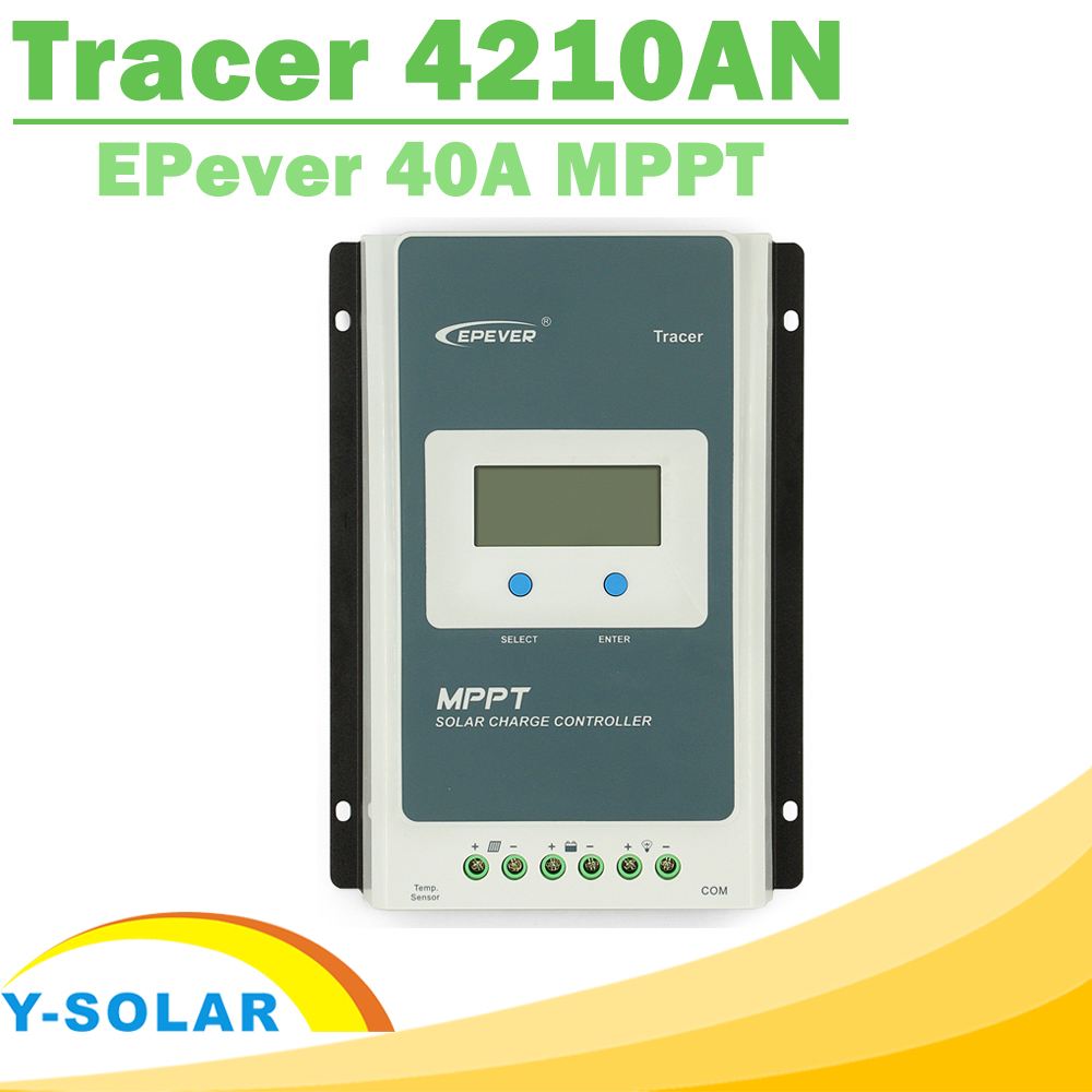 MPPT Charge Controller 40A Tracer 4210AN 12V 24V Auto Work LCD for Max 100V Input RS485 Communication Solar Regulator EPever mppt 40a 4210a solar charge controller 12v 24v automatic conversion lcd display max 100v regulator pc communication mobile