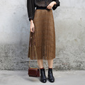 Yichaoyiliang Elegant Khaki Lace Skirt Women High Waist Slim Midi Skirt Sweet Girls Skirt Vintage Sexy Club Party Long Skirt