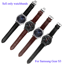 22mm Genuine Leather Watchbands For Samsung Gear S3 Classic crocodiling Bracelet Quick Release Smart Watch Strap