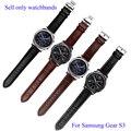 22mm correas de reloj del cuero genuino para samsung gear s3 clásico crocodiling pulsera smart watch correa de liberación rápida