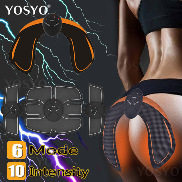 ac1628ba0 EMS Intelligent Hip Trainer Buttocks Lifting Waist Slimming EMS Muscle  Stimulator ABS Buttock Tighter Massager