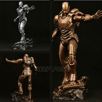 23cm Avengers 3 Iron Man Statue Resin Super Hero Mark MK39 battle ver Action Figure Model New Collection Toys Birthday Gift