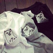 cat in pocket t shirt 2016 spring summer casual rip n dip t shirt men women students love funny ripndip t shirt