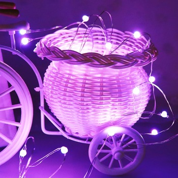 Sliver LED Light String Holiday Lights Garland Fairy Wedding Ramadan Diwali Christmas Decoration AA Battery Operated 30Leds JQ image