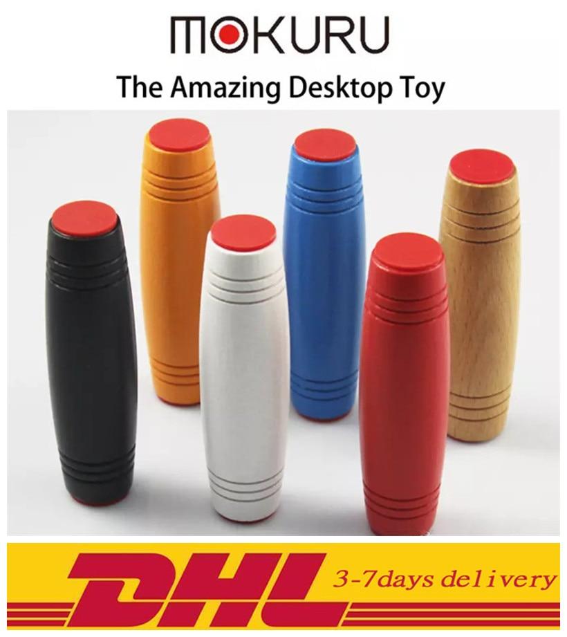 DHL Fidget Rollver Toys 8 Colors Mokuru desk toy 200PCS/300PCS Stress Reliever Mokuru Flip Hand-Eye Concentration Trainer