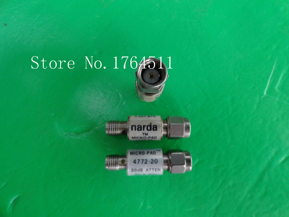 [BELLA] Narda 4772-20 DC-6GHz 20dB 2W SMA Coaxial Fixed Attenuator  --3PCS/LOT