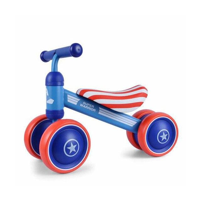 Marca niños equilibrio bicicletas Scooter bebé andador infantil 1-3 años Scooter Sin Pedal conducción bicicleta regalo para bebé tres ruedas