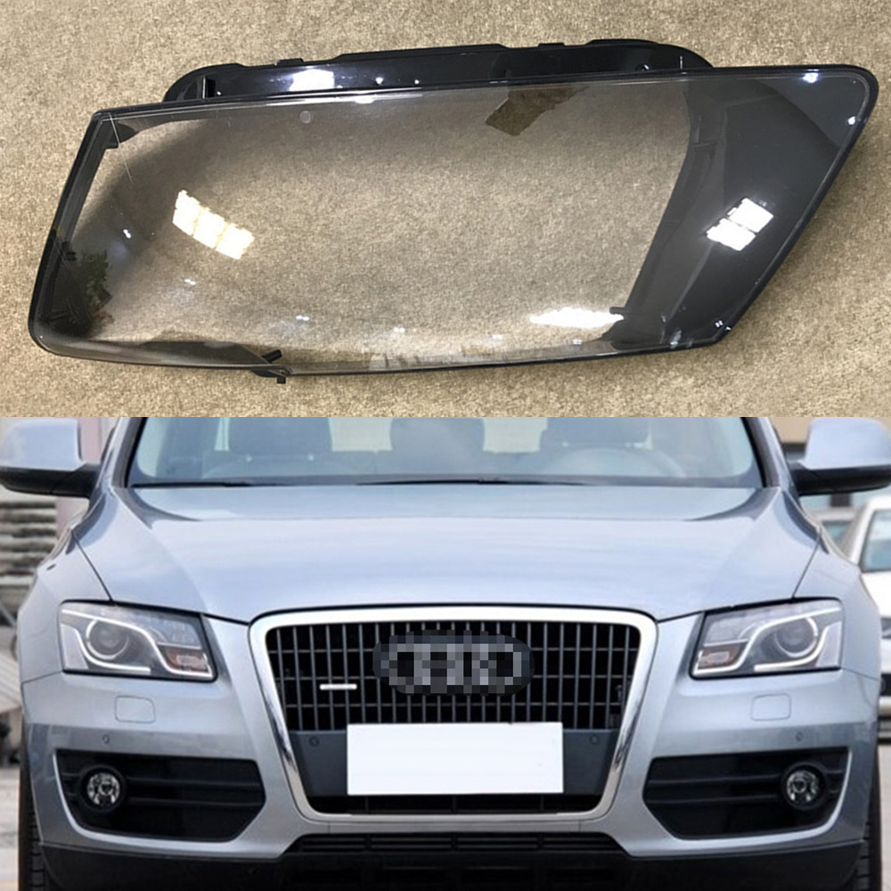 For Audi Q5 2010 2011 2012 Transparent Car Headlight Headlamp Clear Lens Front Auto Shell Cover