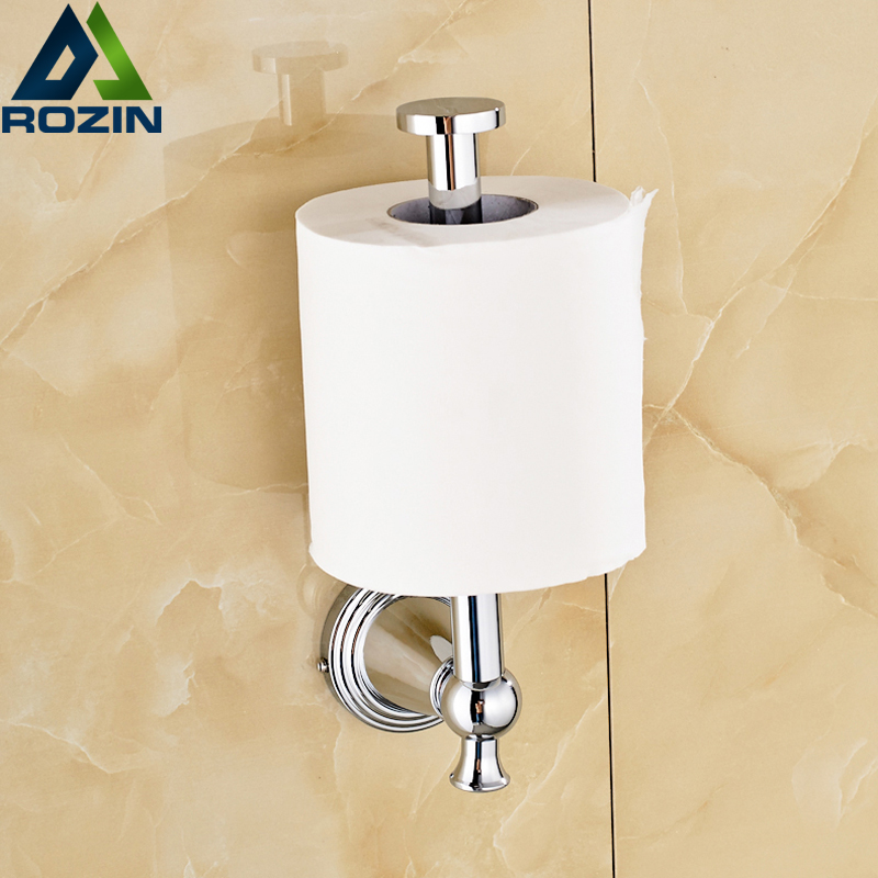 ФОТО New Design Chrome Brass Roll Toilet Paper Holder Wall Mounted Standing Rod Paper Tissue Holder Bar Free Shipping