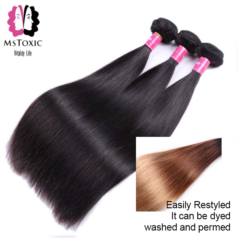 Image 3 - MSTOXIC Brazilian Straight Hair 1/3/4 Bundles 8 28inch 100% Human Hair Bundles Natural Color Remy Hair Weave Extensions-in Hair Weaves from Hair Extensions & Wigs