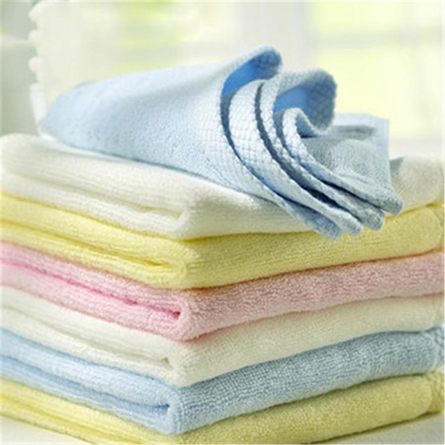 Soft Bath Towel Cotton Newborn Textile 4 Pcs Plaid Newborn Wipes Cute Natural Comfortable Hand Face Baby Towel Set 70A0062