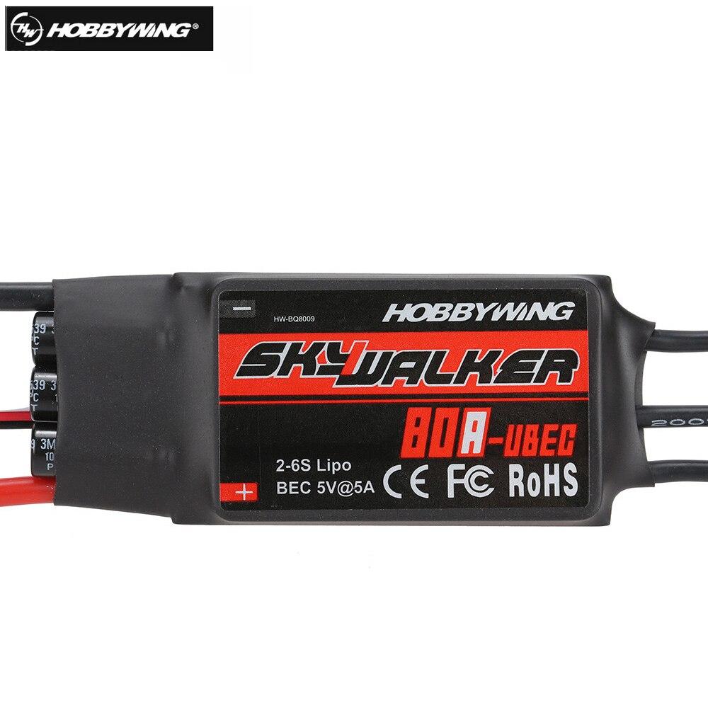 1 stücke 100% Original Hobbywing Skywalker 80A Brushless REGLER Drehzahlregler Mit UBEC für Rc hubschrauber