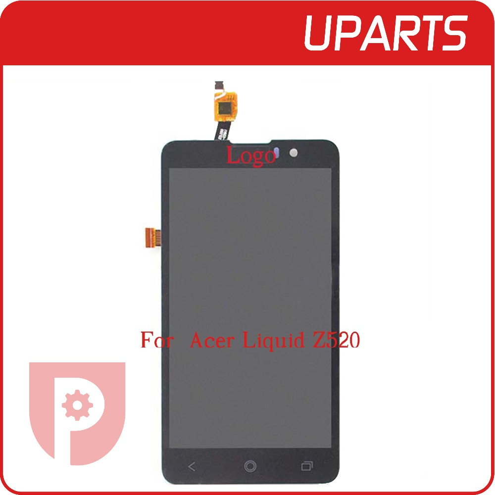 5pcs/lot High Quality For Acer Liquid Z520 Lcd Display+Touch Screen Digitizer Assembly Complete Black +Tracking No+Free Shipping high quality 5 5 for acer liquid z630