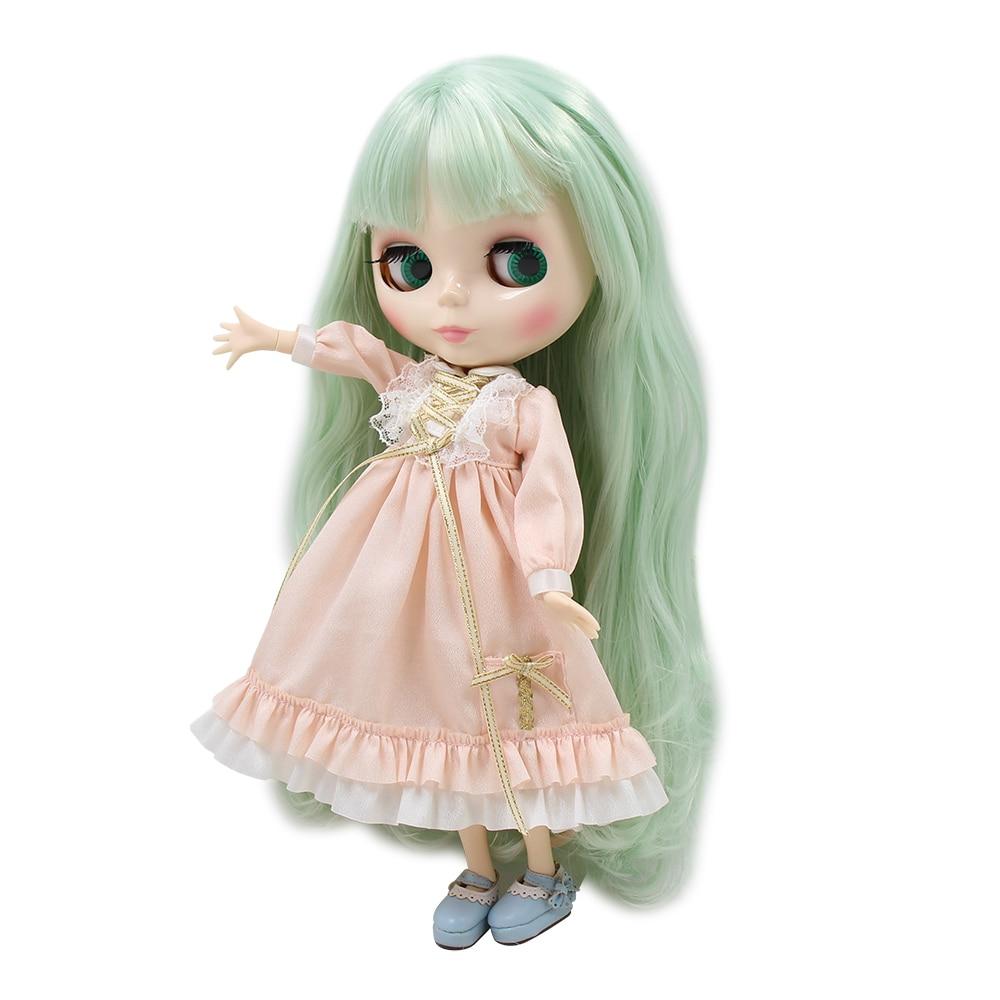 Factory Blyth doll BL4278 Macarons Mint hair white skin white skin 1 6 30cm