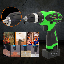 цена на Mayitr 12V Electric Screwdriver Lithium Battery Rechargeable Cordless Electric Drill Power Tools + Instructions EU Plug Adapter