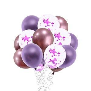 15 stk/set Rose Gold Ballonnen Verjaardag Ballen Metallic Kleur Globos Ballon Partij Decoratie Latex Ballonnen Rode Man Aanbeveling