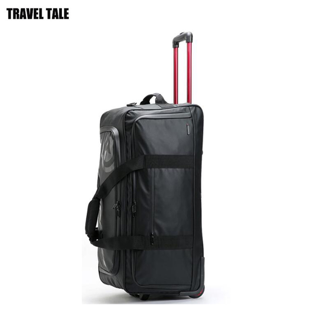 86040ac87073 US $125.0 |TRAVEL TALE 30 inch waterproof super large travel bag trolley  luggage bag on wheels-in Travel Bags from Luggage & Bags on Aliexpress.com  | ...