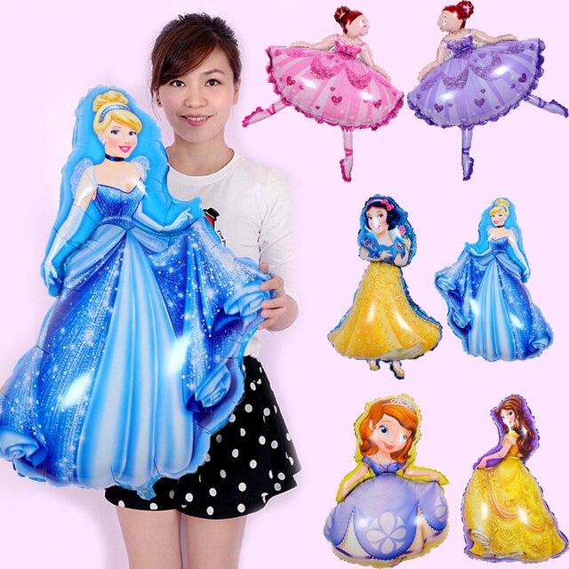 1pcs/lot 93*55cm Princess Balloons Ballet Dancing Snow White helium foil balloon kids Toys Birthday Wedding Decor Party Supplies