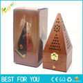 1pc Hot sale 20cm Tower Wooden smoked incense burner