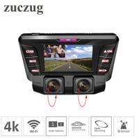 4K Dash Cam hidden Wifi Car DVR Camera dual lens Dual Full 1080P for inside and outside car SONY IMX323 Car DVR Video Recorder
