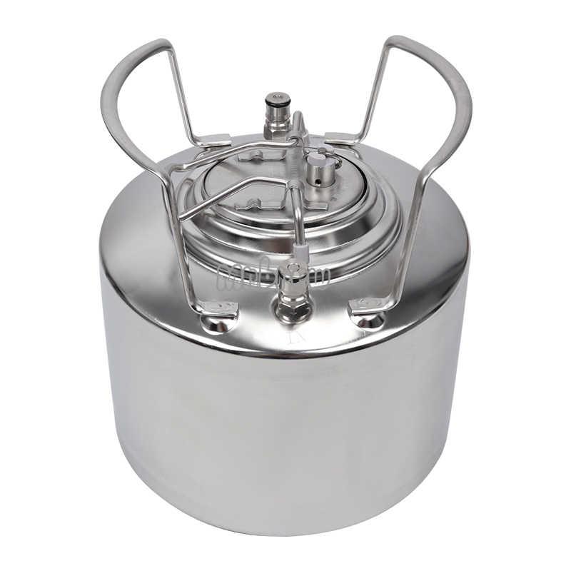 Нержавеющаясталь 304 Бал Блокировка Корнелиус 6L пивной бочонок и регулируемый пивной кран и Co2 бочонок Зарядное устройство для домашнего пивоварения