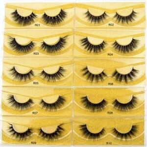 Image 3 - Free DHL 50pairs Visofree Eyelashes 3D Mink Lashes Handmade Mink Dramatic Lashes 51styles cruelty free reusable lashes wholesale