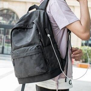 Image 5 - Рюкзак Hk мужской с USB портом для ноутбука 15 дюймов, маленький школьный ранец из ткани Оксфорд, удобный Молодежный дорожный портфель на плечо для мужчин и женщин