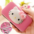 Hello kitty 7 pcs Nail Cuticle Pusher Stainless Steel Feet Care Tool Callus Remover Spoon Manicure Pedicure Cleaning Rasper
