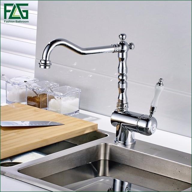 Luxus Rotierenden Heißen Und Kalten Wasserhähne Küche Wasserhahn ...