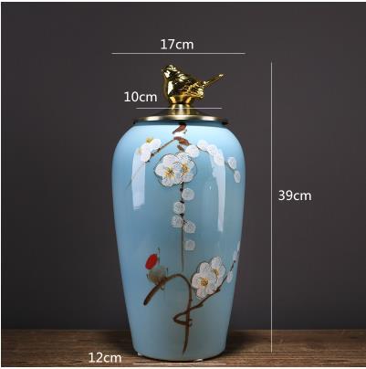 Beaux pots de rangement en céramique, articles décoratifs de bureau à la maison, artisanat moderne créatif - 4