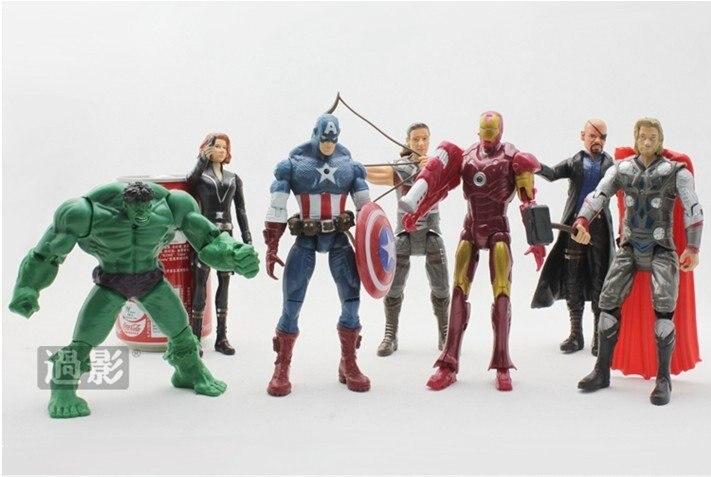Civil Protection Toys : Action figure marvel the avengers heros set a pcs hulk