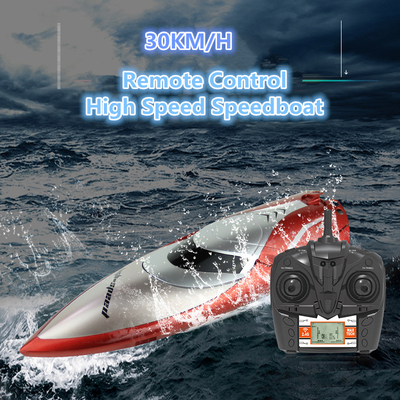 2019 New 30KM/H High Speed Electric Racing RC Boat 2.4G 150M One Key Turnover Reset Remote Control Boat Wireless RC Racing Ship