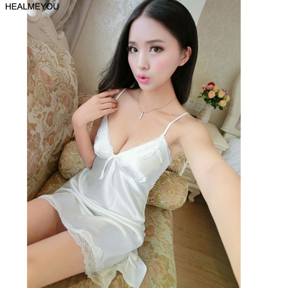 New Sexy Women Lingerie Silk Lace Robe Dress Babydoll Nightdress Nightgown Sleepwear