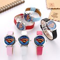 Superman Children Watch Fashion Watches Quartz Wristwatches Waterproof Jelly Kids Clock boys girls Students Wristwatch
