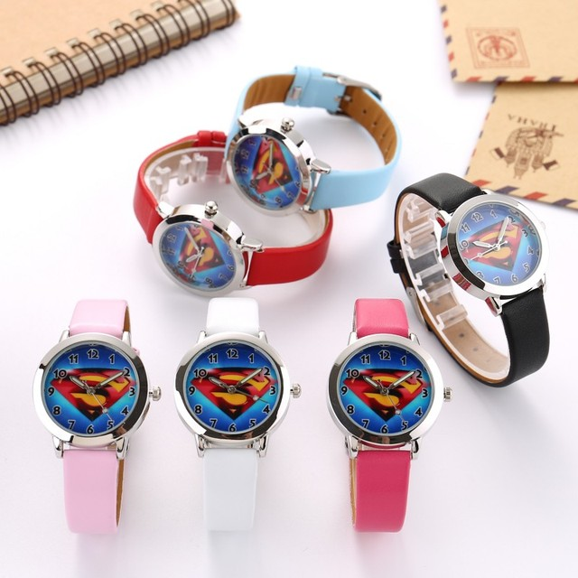 Superman Children Watch Fashion Watches Quartz Wristwatches Waterproof Jelly Kid