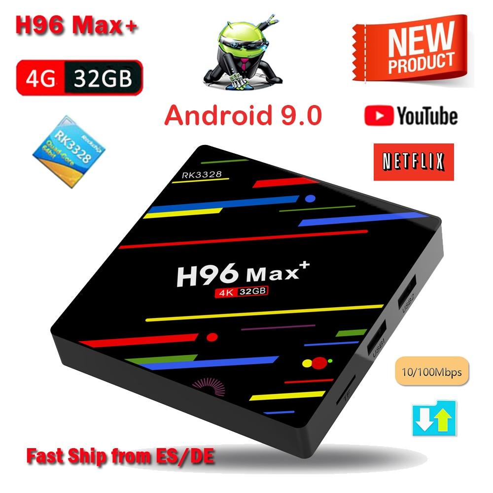 H96 Max Plus Android 9.0 TV BOX RK3328 4GB RAM 32GB ROM Set Top Box 4K H.265 HDR10 USB 3.0 WIFI HD Smart Media Player H96 MaxH96 Max Plus Android 9.0 TV BOX RK3328 4GB RAM 32GB ROM Set Top Box 4K H.265 HDR10 USB 3.0 WIFI HD Smart Media Player H96 Max