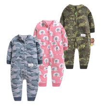 2019 Spring Autumn baby rompers 0-12m newborn Romper clothes cotton longsleeve Costumes Pajamasfor for