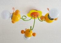 נורדי יפה דבורת דבש ילדים קרטון אור מודרני Led תקרת חדר שינה תקרת אור אור ארוחת ערב פרח פשוט משלוח חינם