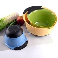 1set Multipurpose plastic salad bowl set Round Wash Vegetable Fruit Basin Camping Fishing Car Washing Tool Kitchen Accessories