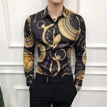 Tuxedo Shirts Korean-Dress Slim-Fit Long-Sleeve Male Fashion New Spring Casual Night-Club