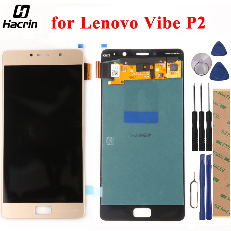 for Lenovo Vibe P2 P2c72 P2a42 LCD Screen + Touch Screen Panel With Frame 5.5inch LCD Screen Digitizer Assembly Replacement Part