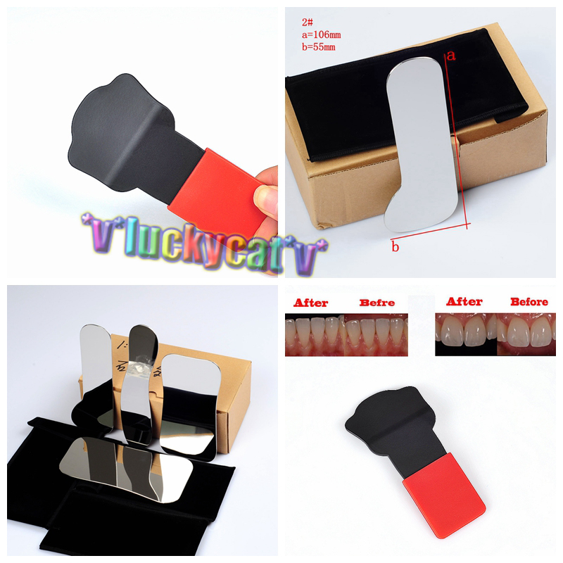 4Pcs Orthodontic Dental Intraoral Clinic photography Mirror +1Pc Cat's paw red Background Board 13pcs children printing hair rings