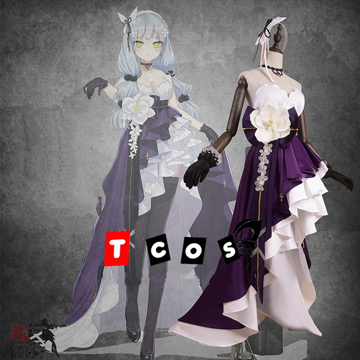 First Anniversery Game Girls Frontline HK416 Cosplay Costume Women's Delux Fomal Dress Halloween Carnival Uniforms Custom Made