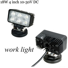 newest 2x18W 4ich CREE LED 18W Work light SPOT BEAMfor indicators Motorcycle Driving offroad Boat Car Tractor Truck 4×4 SUV ATV